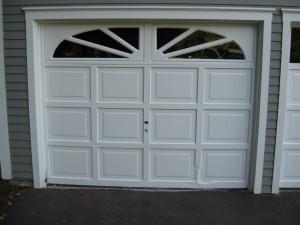 White single garage door   Oxford, ME
