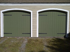two green single garage doors | Old Orchard Beach, ME
