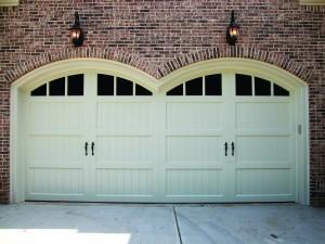 Double white garage doors | Scarborough, ME
